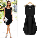 Summer Dress Plus Size Black Elegant Party Dresses Chiffon Bodycon Beach Dress Sundress Celebrity