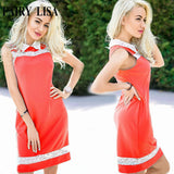Online discount shop Australia - LISA summer lace Splice office dress women casual plus size vintage dress sexy sleeveless party dresses cheap clothes china