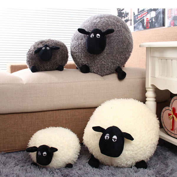Online discount shop Australia - 1 Piece New Lovely Stuffed Soft Plush Toys Cushion Sheep Character White/Gray Kids Baby Toy Gift H0851