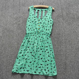 Summer Style Women Casual Dress Eagle Leopard Print Green Summer Dress vestido backless Dresses Plus Size Women Clothing