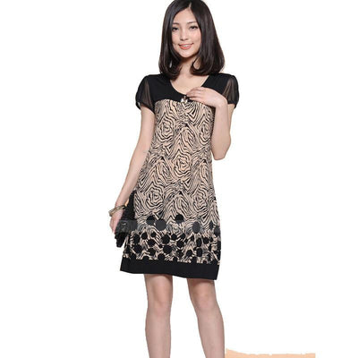 Women Dress Printing Dress Sleeve Loose Dress Women
