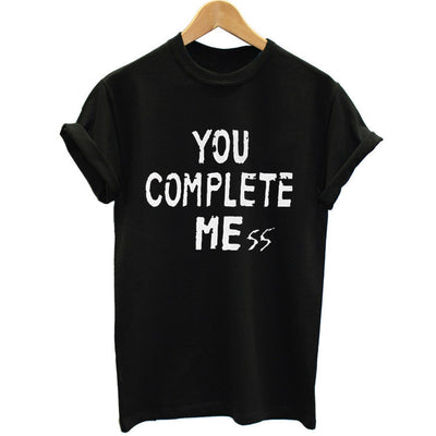New You Complete Mess Me 5SOS Shirt Five 5 Seconds Of T Shirt T-shirt Luke Hemmings women Clothing