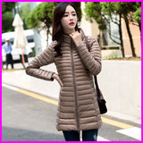 Online discount shop Australia - Long Parka Womens Down Jackets Brand Designer Ultra Light White Duck Down Coats Plus Size