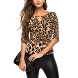 Online discount shop Australia - Blouse Women Tops Half Sleeve Women Shirt Elia Cher Plus Size Casual Women Clothing Lady Leopard Print Blouses