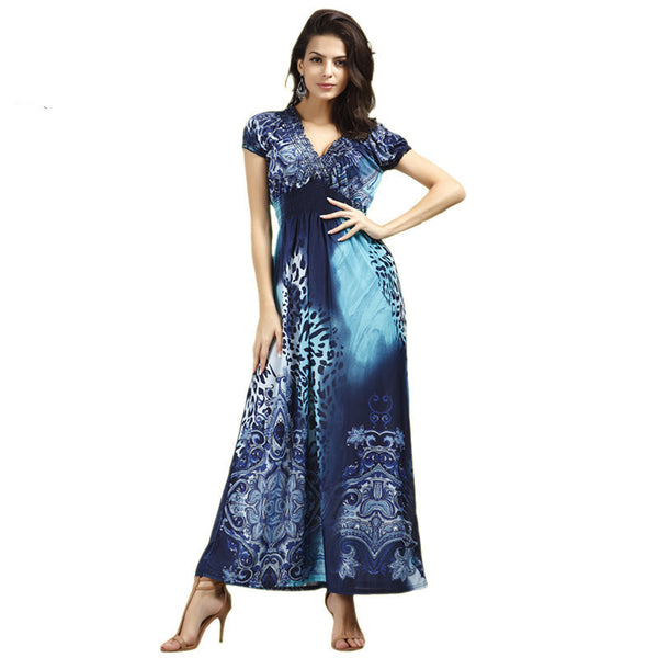 Online discount shop Australia - Fashion Beach Dress Leopard Dress Bohemian Mopping Large Size Ice Silk Dresses