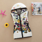 Online discount shop Australia - Genuine Ladies Vest Jacket  Women Korean Printing Cotton Vest Short Slim Down cotton Hooded Vest women coat