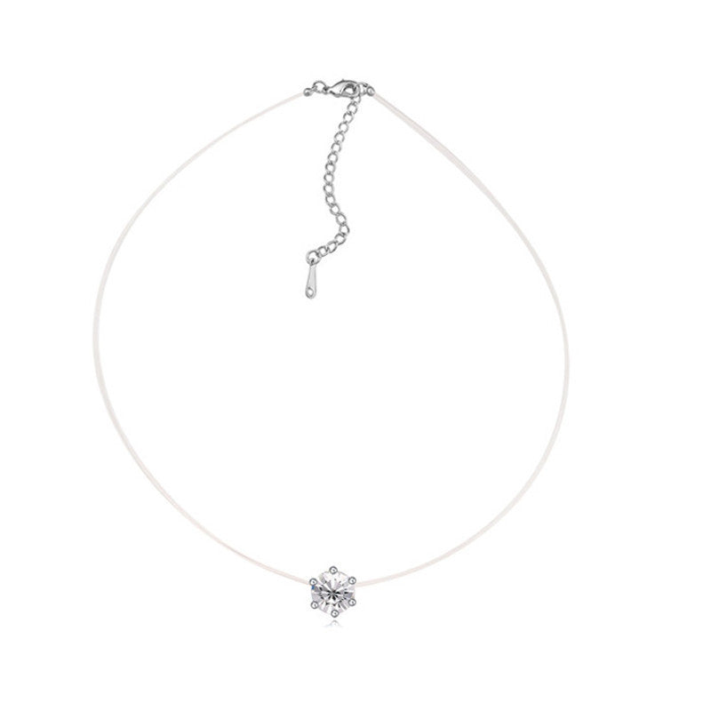 Original Crystals from Swarovski Choker Necklaces Infinity Chain Necklace Fashion Jewelry For Women Party Accessoriesa