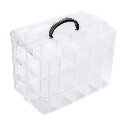 Online discount shop Australia - 30 Grids Clear Plastic Storage Box For Toys Rings Jewelry Display Organizer Makeup Case Craft Holder Container porta joias