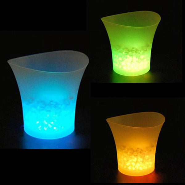 Online discount shop Australia - 5L Waterproof Plastic LED Ice Bucket Color Changing Bars Nightclubs LED Light Up Champagne Beer Bucket Bars Night Party