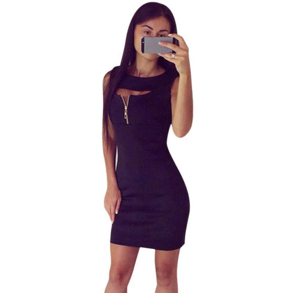 Sexy Women Slim Pencil Dress Fashion Lady Sleeveless Package Hip Mini Dresses Women's Casual Summer Party Dress Vestidos