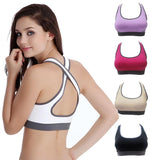 Online discount shop Australia - Hottest Women Yo-ga Bras Female Crop Tops Seamless Racerback Vest Fitness 5 colors High Quanlity