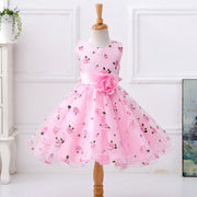 Online discount shop Australia - flower dress in sashes for wedding party girls floral print dress first communion dresses Size:100-150 L619