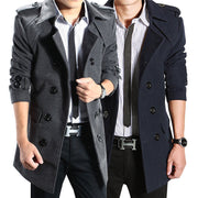Online discount shop Australia - male trench slim medium-long overcoat woolen fashion leisure men's clothing outerwear