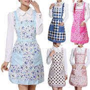 Women's Bib Comfy Cooking Chef Floral Pocket Kitchen Restaurant Princess Apron 7M7I