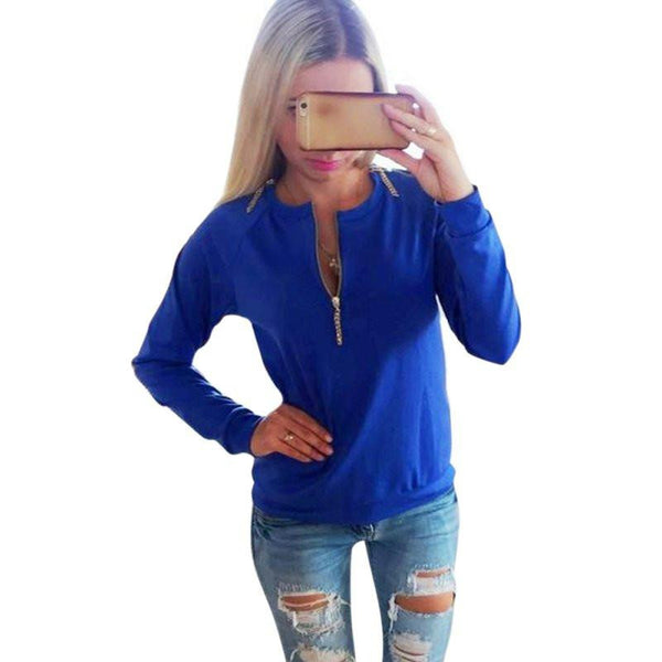 Online discount shop Australia - New Arrive Women Lady's New Pullover Long Sleeve Shirts Jumper Pullover Tops For Women Outwear