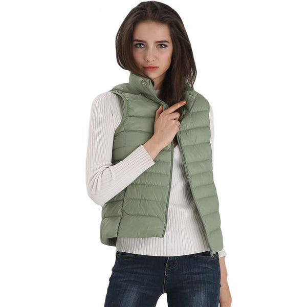 Women's Vest Ultra Light Down Vests Sleeveless Jacket Gilet