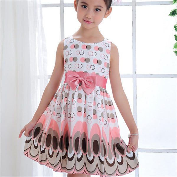 Online discount shop Australia - cotton Blend +Polyester Girls Kids girl dress Princess Bow Tutu Dress One Piece Tops Pageant Tulle shaqun 2-7 years