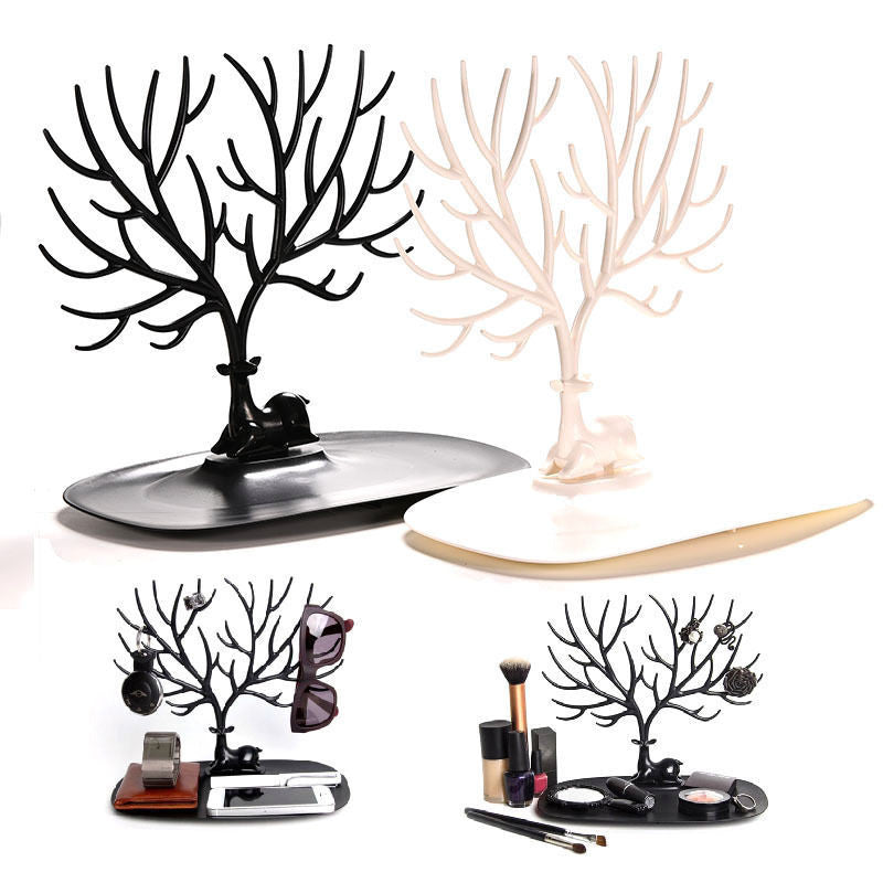 New Display Tray My Little Deer Accessories Bracelet Storage Tree Shelf Stand Holder Organizer for Earrings Necklace RingBlacka
