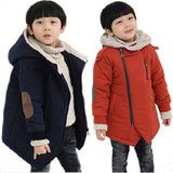 Retail new kids boys outerwear hooded coat top quality thick wadded jacket/parkas child clothing kids