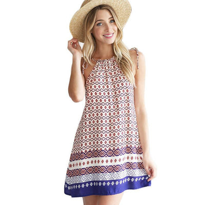 Online discount shop Australia - JECKSION Ladies Summer Dress Casual Sleeveless Beach Sundress Floral Short Mini Dress Women Vestidos S-XL #LYW