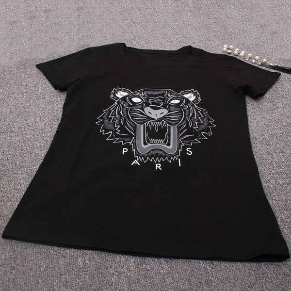 Online discount shop Australia - Fashion Brand Women Men T shirt Tiger Print Short Sleeve Shirts Cotton Women Tees Men Tops shirts