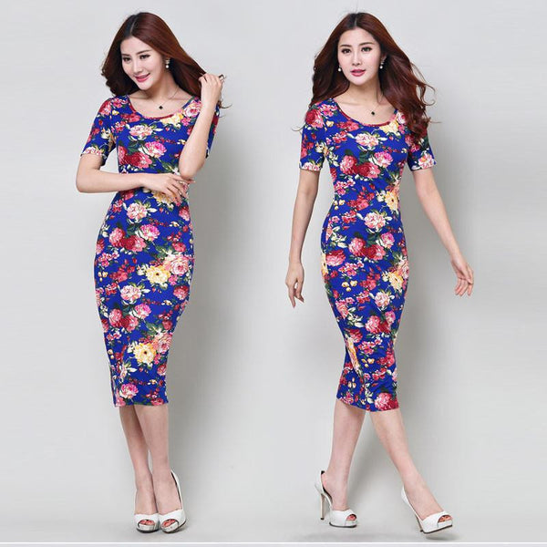Women Slim Painted Bodycon Party Clubwear woman clothing Elegant Noble summer Dress #LYW