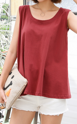 A-line Sleeveless Shirt