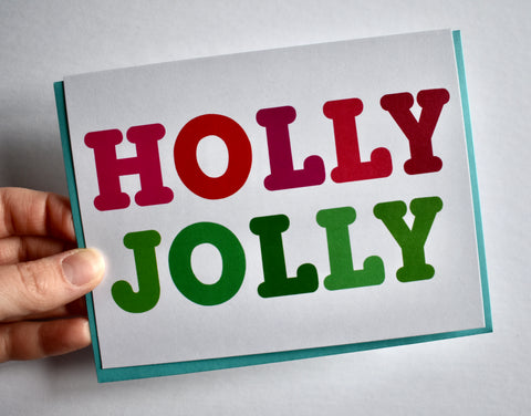 Holly Jolly Card