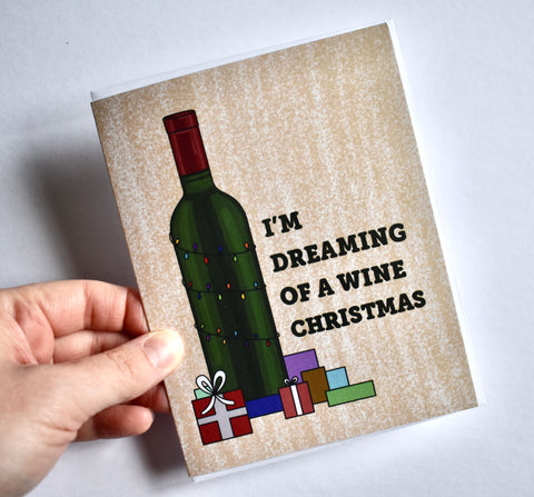 I'm Dreaming of a Wine Christmas Card