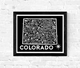 Colorado Map Black
