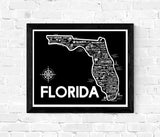 Florida Map Black