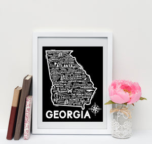 Georgia Map Black