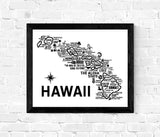 Hawaii Map White