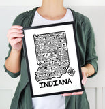 Indiana Map White