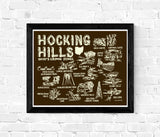 Hocking Hills State Park Map Print Brown