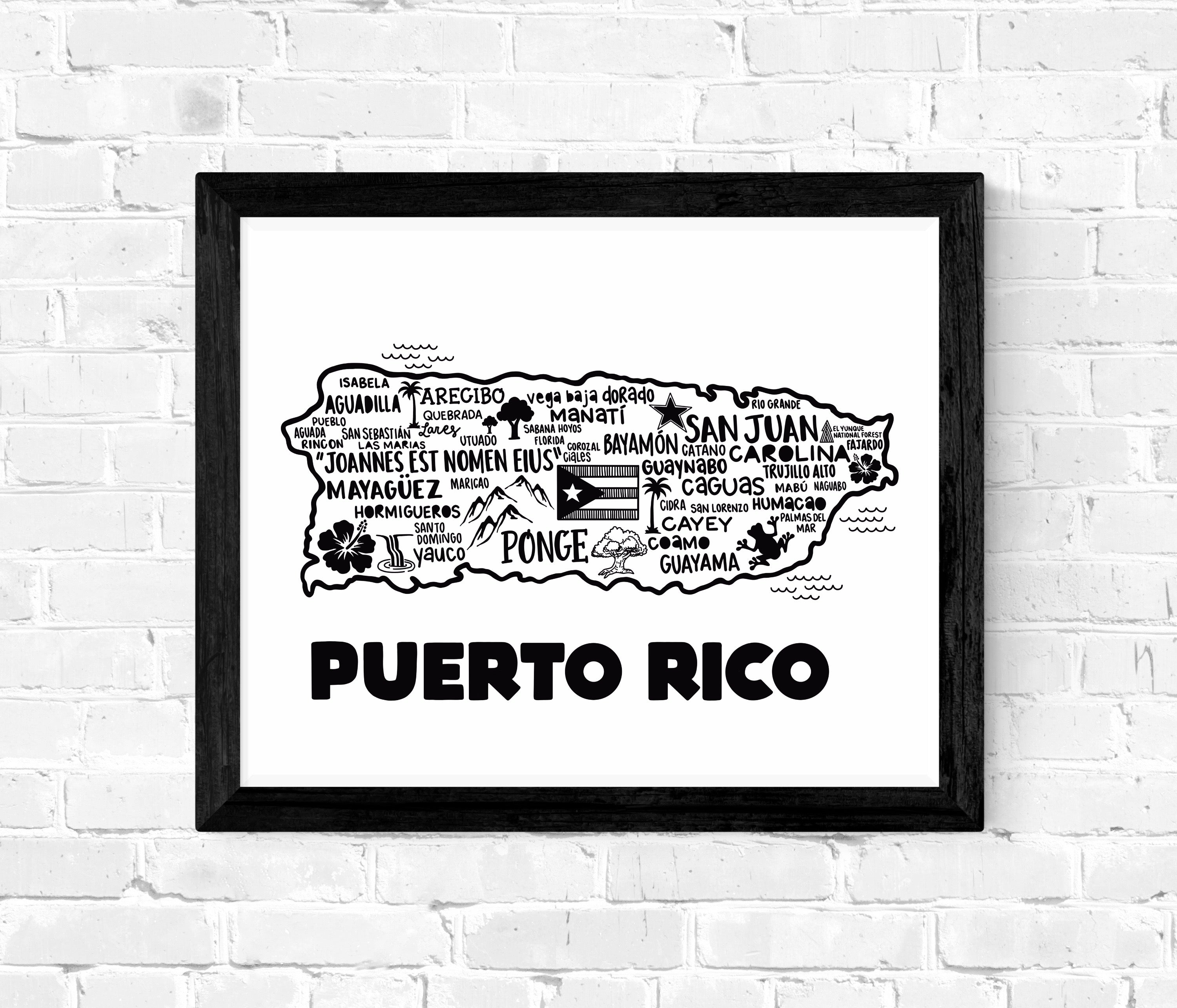Puerto Rico Map White