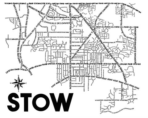 Stow Ohio Map Print