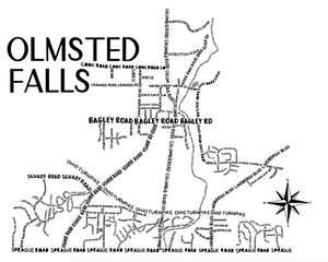 Olmsted Falls Ohio Map Print