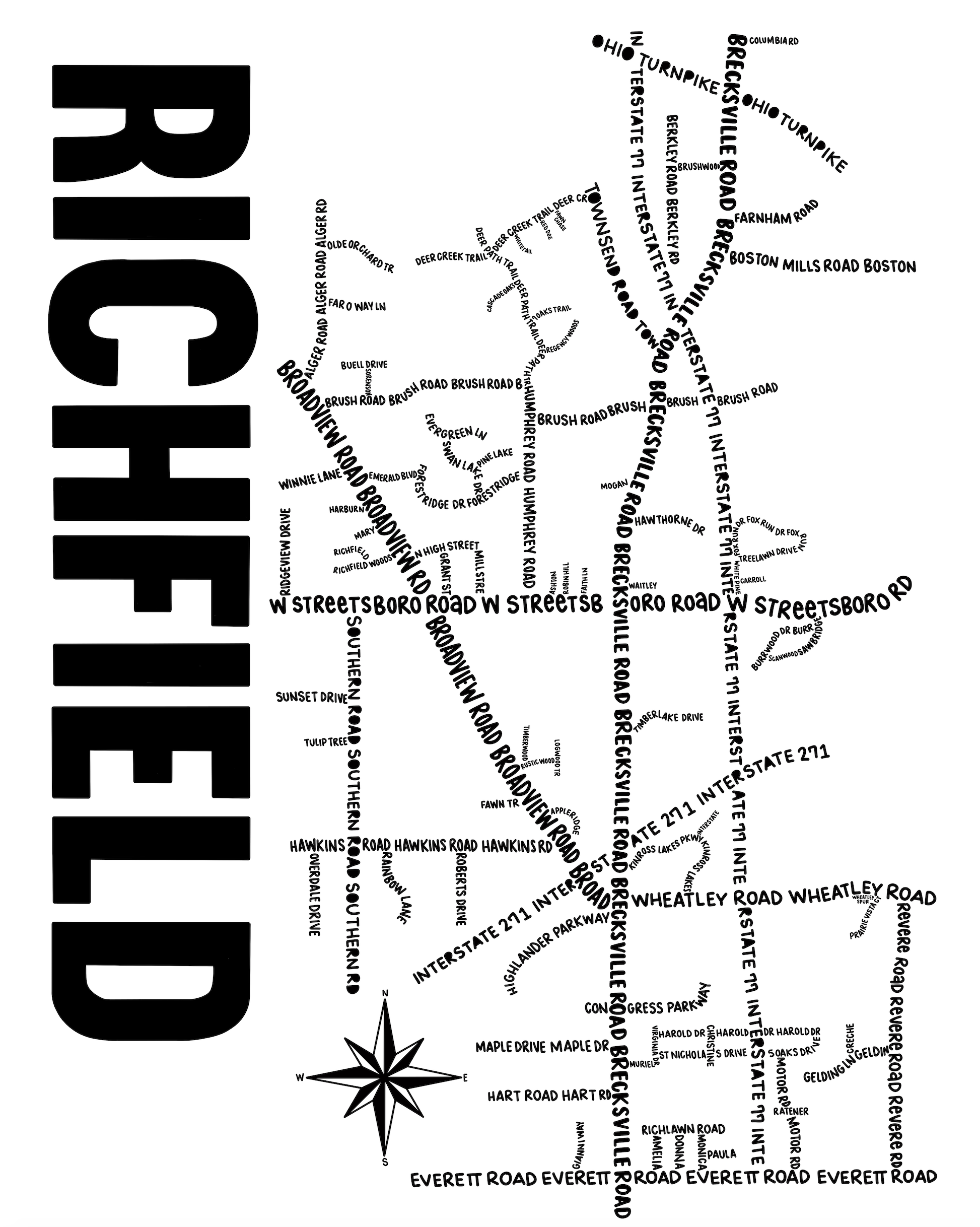 Richfield Ohio Map Print