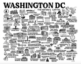 Washington DC Map Print