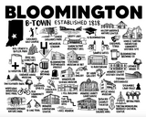 Bloomington Indiana Map Print