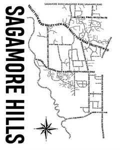 Sagamore Hills Ohio Map Print