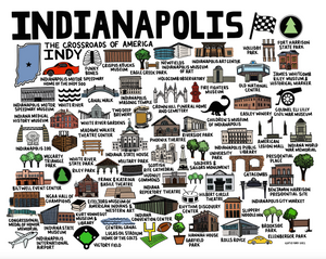 Indianapolis Map Color