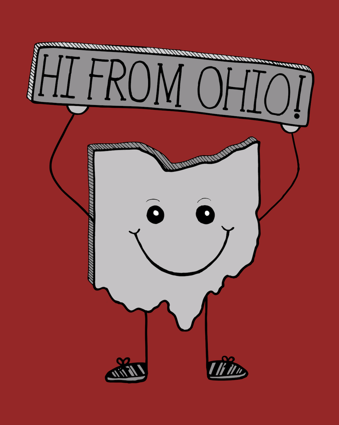 Hi from Ohio Card