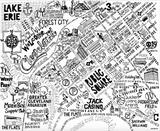 Downtown Cleveland Map Print
