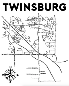 Twinsburg Ohio Map Print