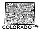 Colorado Map White