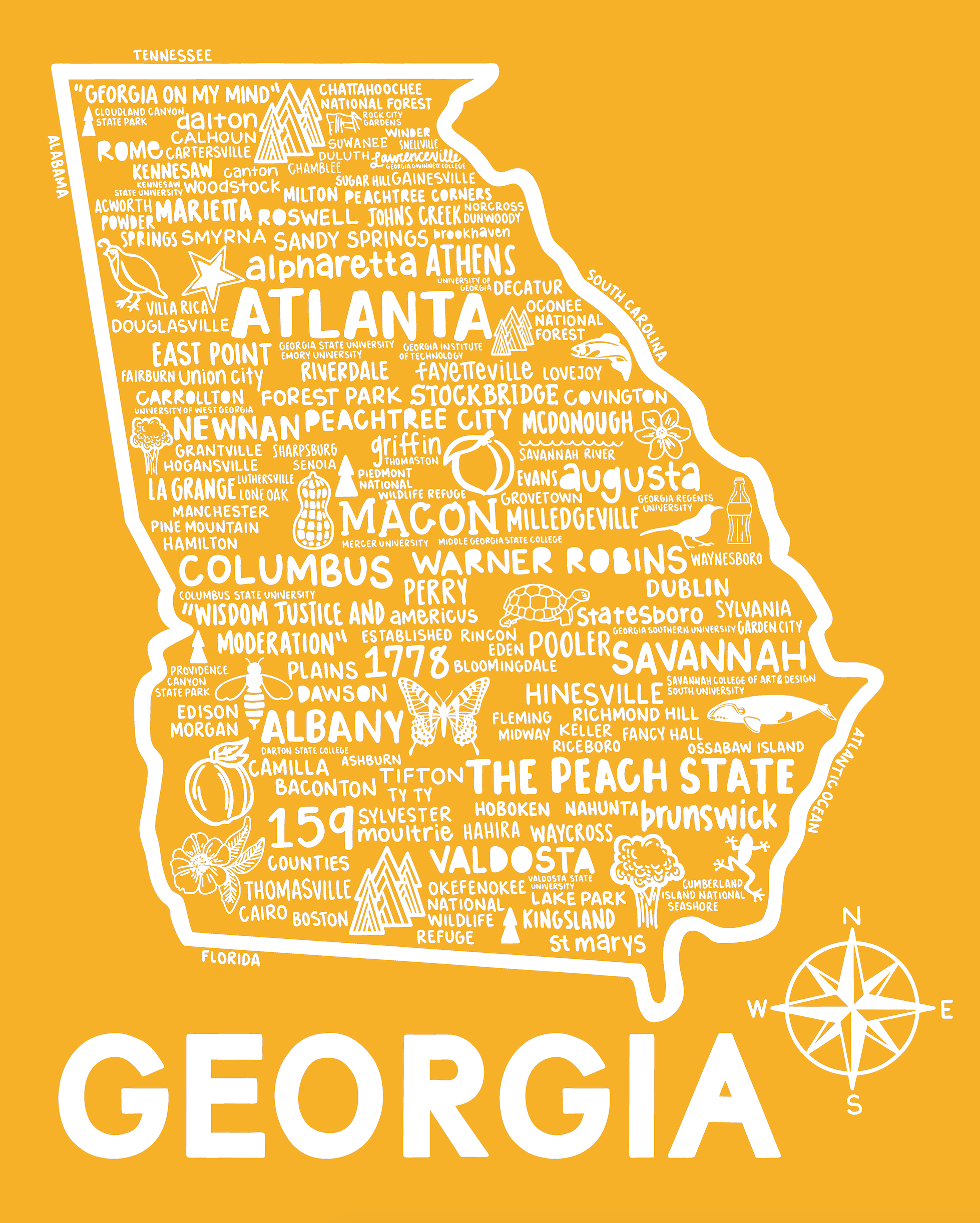 Georgia Map Peach