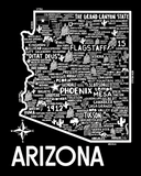 Arizona Map Black