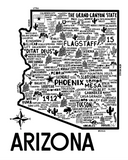 Arizona Map White